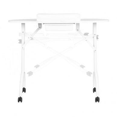 Sulankstomas manikiūro stalas su stalčiumi, baltos sp.  3