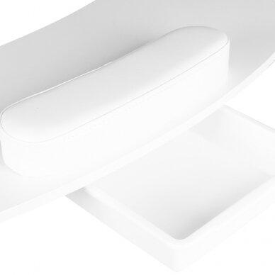 Sulankstomas manikiūro stalas su stalčiumi, baltos sp.  4