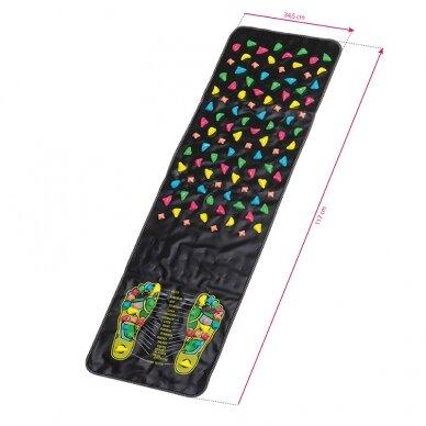 Akupresūros kilimėlis ir pagalvė ACTIVFIZJO, juoda-rausva sp.  4
