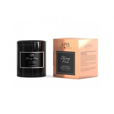 APIS natūrali sojos žvakė OLIMP FIRE masažui ir aromaterapijai, 220g