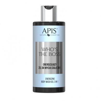 APIS APIS Who's the Boss energizuojantis dušo gelis-šampūnas 3 in 1, 300ml