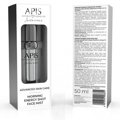 APIS Morning Energy Shot energizuojanti veido dulksna, 50ml