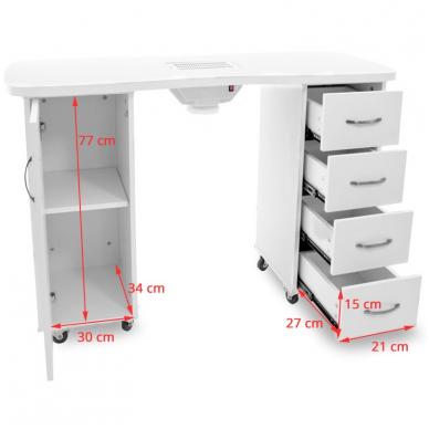 Manikiūro stalas su dulkių sutraukėju 2027 2
