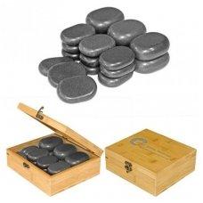 Bazalto akmenų rinkinys masažui H45TC2, 45 vnt.