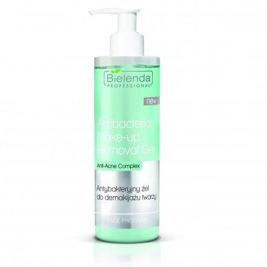 Bielenda antibakterinis gelis makiažo valymui Antibacterial Make-Up remover, 200g