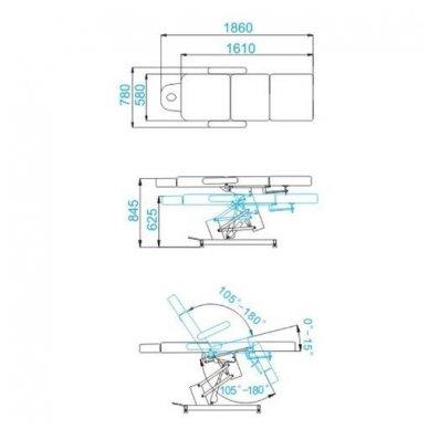 Elektrinis krėslas AZZURRO 705, baltos sp. 10