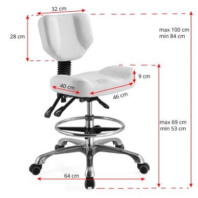 Kėdutė meistrui, balta 2