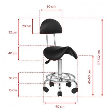 Kėdutė meistrui, juoda 2