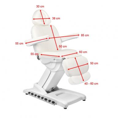 Kosmetologinis krėslas AZZURRO 872 EXCLUSIVE su 4 varikliais ,šildymo funkcija,  LED pašvietimu ( iš ekspozicijos) 2