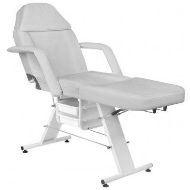 Mechaninis kosmetologijos krėslas BASIC 202 su 2 stalčiais, pilkos sp. 3