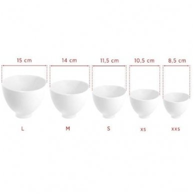 Silikoninis dubenėlis, XS dydis, sp. balta 2
