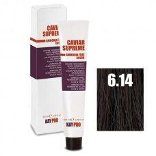 """6.14 """"KAYPRO Caviar Supreme"""" kreminiai dažai be amoniako, tamsi-šokoladinė Blond, 100 ml."""