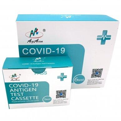 AgiAccu COVID-19 antigenų nustatymo seilėse testo rinkinys N1