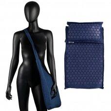 Akupresūros čiužinys PREMIUM, su pagalvėle,61cm, tamsiai mėlynos sp.
