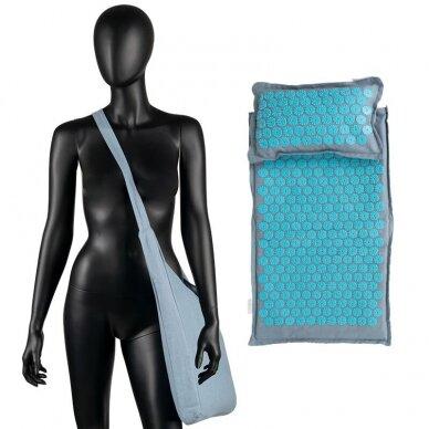 Akupresūros čiužinys PREMIUM, su pagalvėle, turkio sp. 61cm