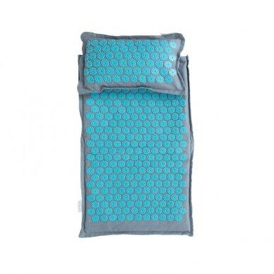 Akupresūros čiužinys PREMIUM, su pagalvėle, turkio sp. 61cm 2