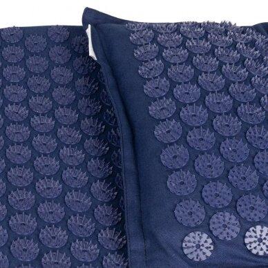 Akupresūros čiužinys PREMIUM, su pagalvėle,61cm, tamsiai mėlynos sp.  3