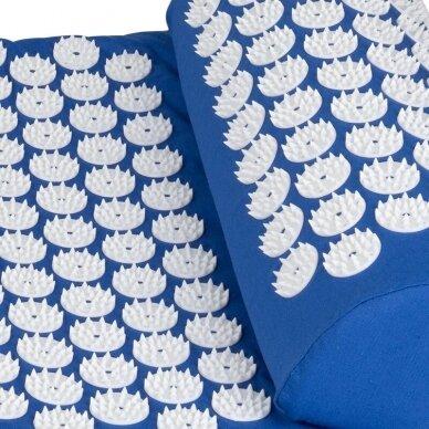 Akupresūros čiužinys su pagalvėle 123cm, mėlynos sp. 3