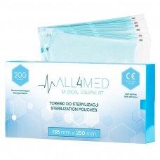 ALL4MED sterilizavimo vokai autoklavui 100mm X 230mm, 200vnt.