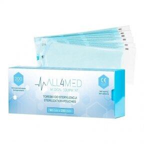 ALL4MED sterilizavimo vokai autoklavui 90mm X 230mm, 200vnt.