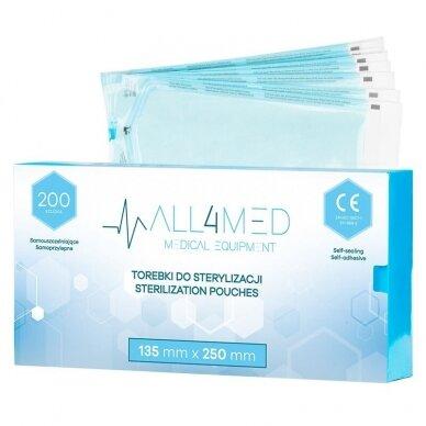 ALL4MED sterilizavimo vokai autoklavui 90mm X 135mm, 200vnt.