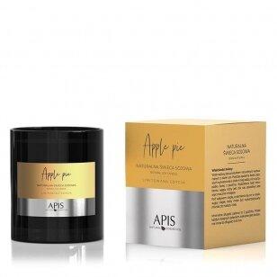 APIS natūrali sojos žvakė APPLE PIE masažui ir aromaterapijai, 220g