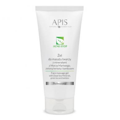 APIS Acne-stop glotninantis gelis riebiai odai (veido masažui), 200ml
