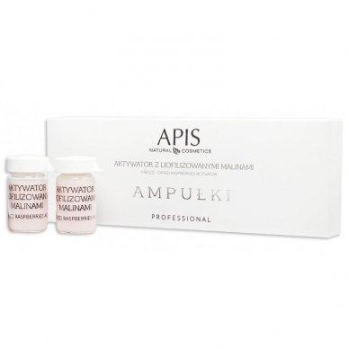 APIS aktyvatorius-serumas ampulėse su liofilizuotomis avietėmis, 5ml x 5 vnt.