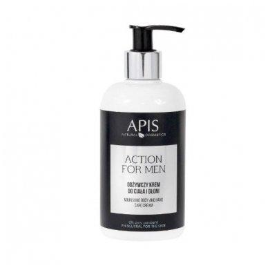 APIS Action for Men maitinamasis kūno ir rankų balzamas vyrams, 300 ml