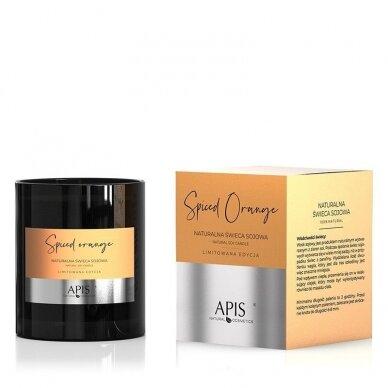APIS natūrali sojos žvakė SPICED ORANGE masažui ir aromaterapijai, 220g