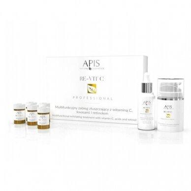 APIS veido eksfoliacijos rinkinys su Vitaminu C, rūgšimis ir Retinoliu