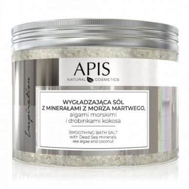 APIS vonios druska su Negyvosios jūros mineralais, Alga dumbliais ir kokoso drožlėmis, 650gr