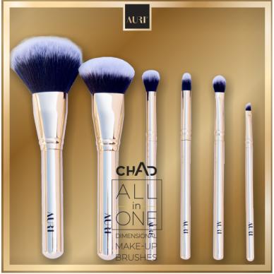 AURI kosmetikos šepetėlių rinkinys Chad All in One Dimensional Make-up Brushes, 6vnt.
