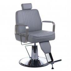 Barberio krėslas BH-31237, pilkos sp.