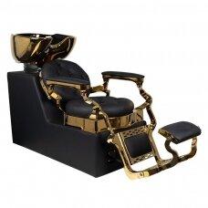 Barber salono plautuvė GABBIANO CLAUDIUS, juodos/aukso sp.