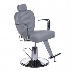 Barberio krėslas BH-3273, pilkos sp.