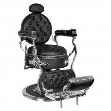 Barberio krėslas GABBIANO CESARE, juodos/sidabro sp.