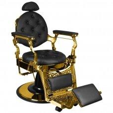 Barberio krėslas GABBIANO GULIO, juodos/aukso sp.