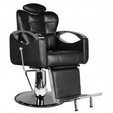 Barberio krėslas HAIR SYSTEM SM107, juodos sp.