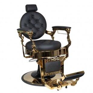 Barberio krėslas GABBIANO CLAUDIUS, juodos/aukso sp.