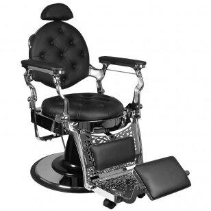 Barberio krėslas GABBIANO GIULIO, juodos/sidabro sp.