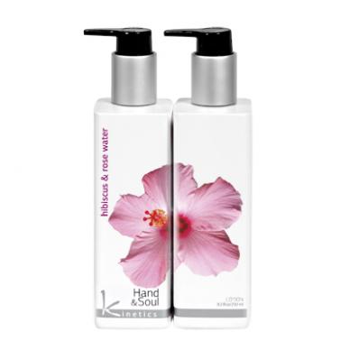 Balinantis ir raminantis rankų ir kūno losjonas KINETICS Hibiscus & Rose Water, 250 ml 2