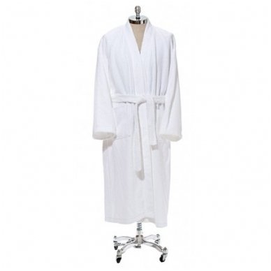 Baltas medvilninis chalatas-kimono 350 gr/m2