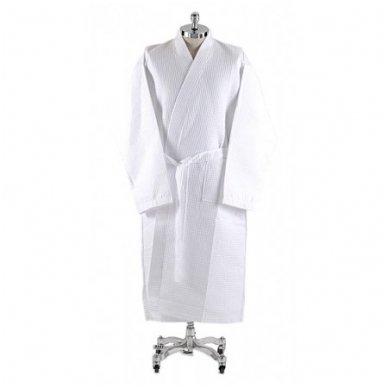 Vaflinis medvilninis chalatas-kimono 250 gr/m2