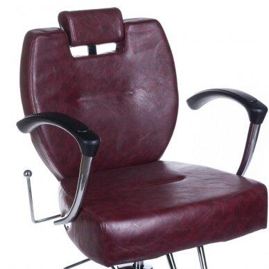 Barberio krėslas BH-3208, bordo sp. 2