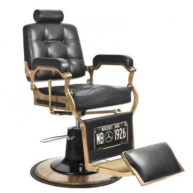 Barberio krėslas BOSS, juodos sp.