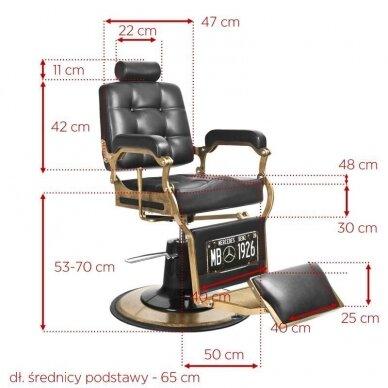 Barberio krėslas BOSS, juodos sp. 5