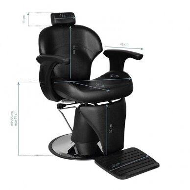 Barberio kėdė GABBIANO IGOR, juodos sp. 5
