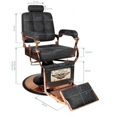 Barberio krėslas BOSS HD VARIO, juodos sp. 3