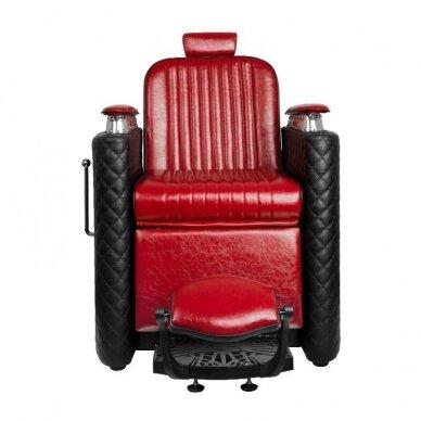 Barberio krėslas GABBIANO BERNARDO, juodos/raudonos sp. 2